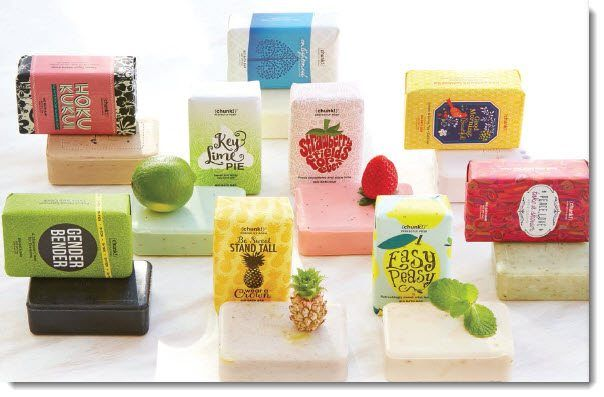 Soap selection at Perfectly Posh