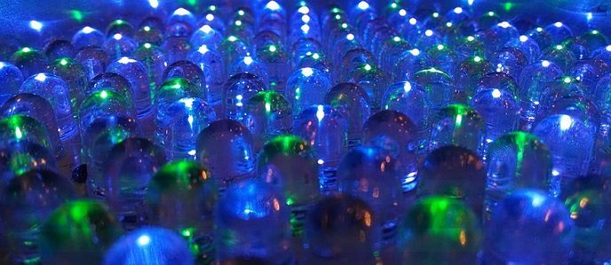 LED lights affiliate niche reseach blue and green LEDs
