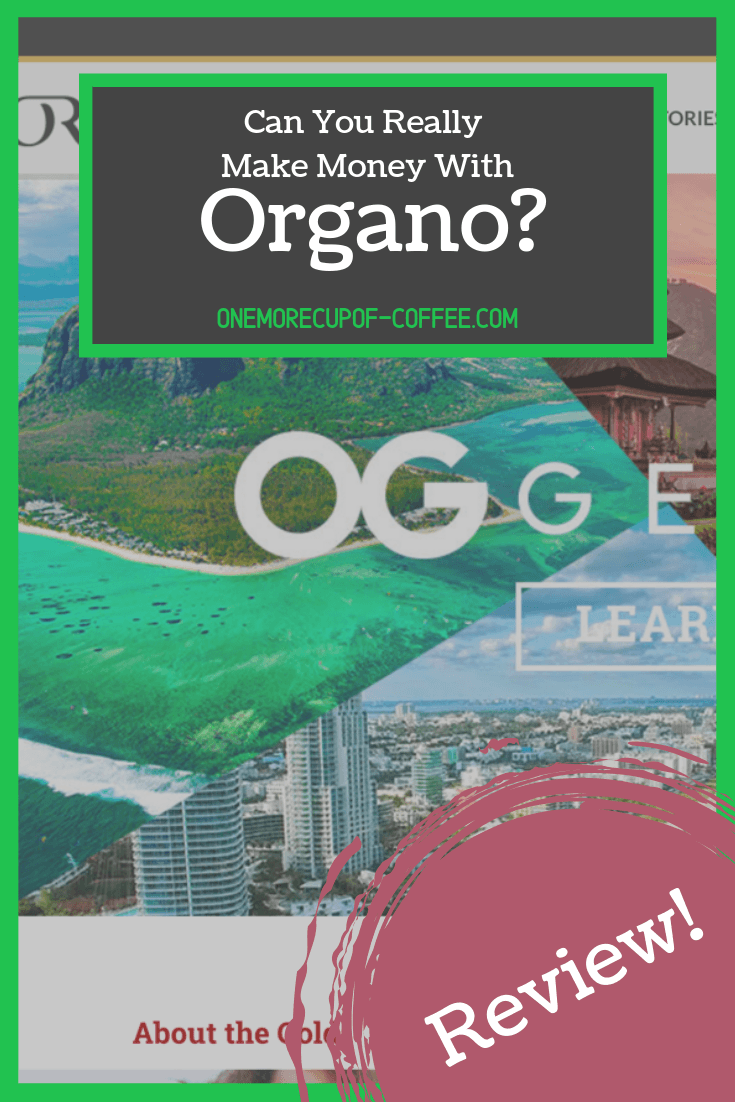 "Organo homepage screenshot with text title, ""can you really make money with Organo?"""