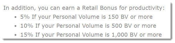 Retail bonus