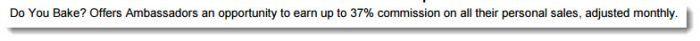 37% commission