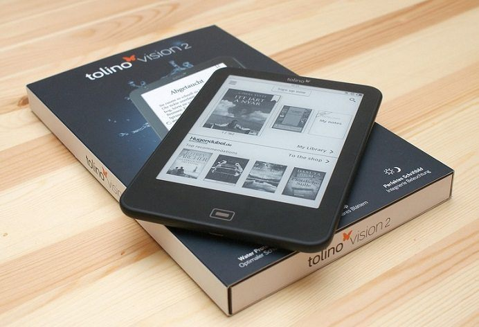one of many kinds of eBook reader tablets