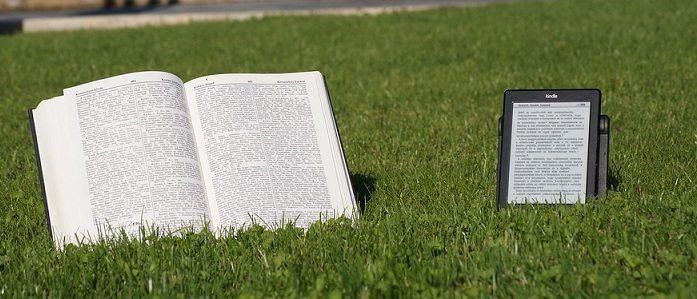 eBook reader and book