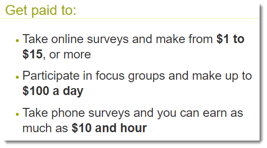 Get paid to