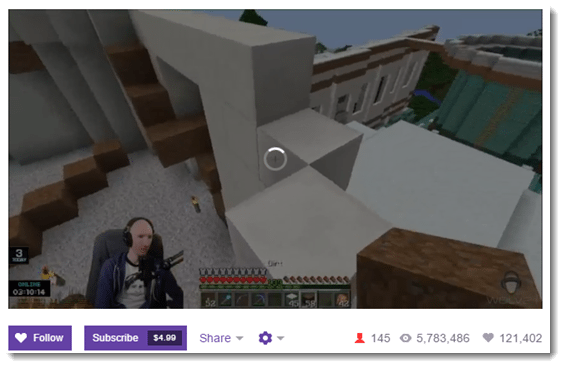 Twitch Minecraft Example