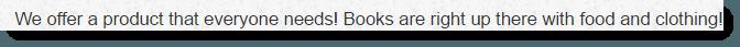 Everyone Needs Books