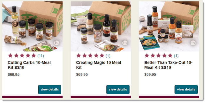 Meal Kits from Tastefully Simple