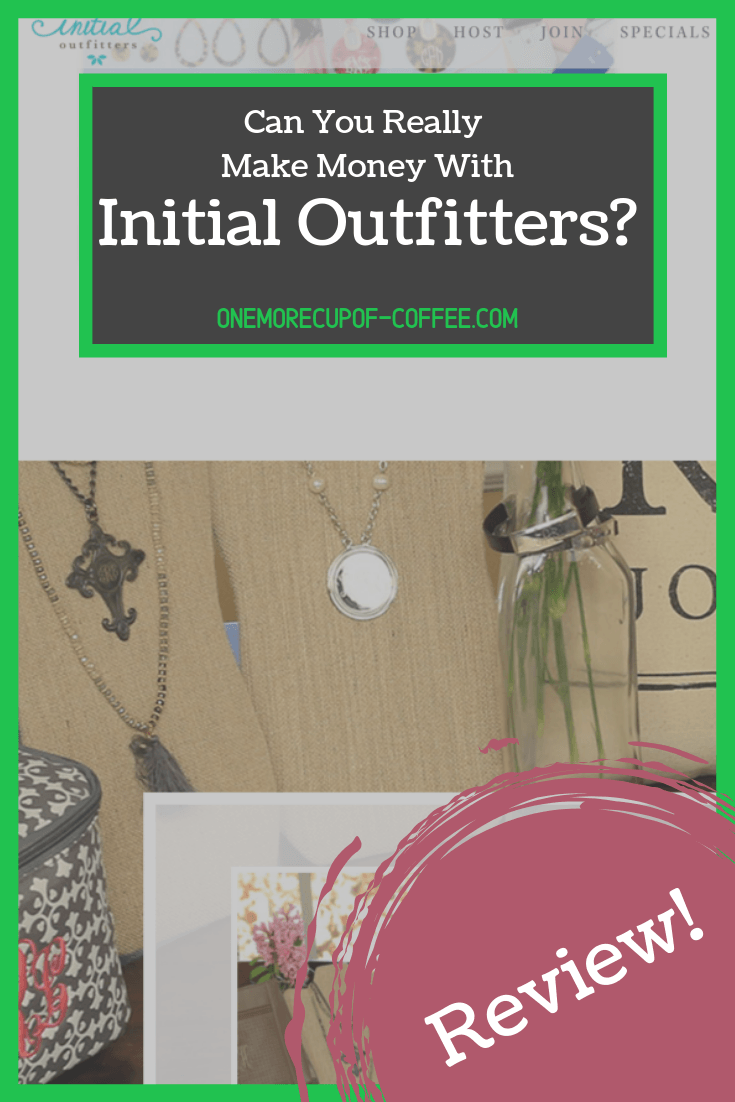 initial outfitters home page screenshot with title,