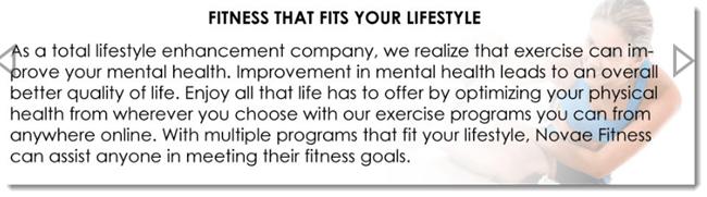 Novae Fitness Description