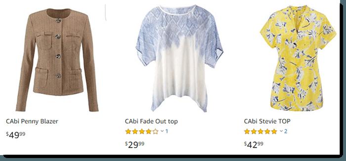 Cabi on Amazon