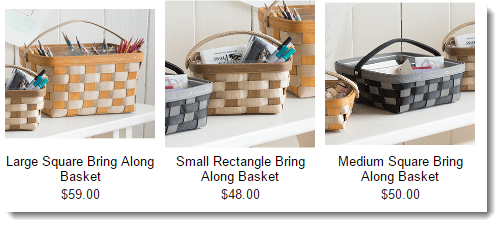 Longaberger Extra Small Foyer Basket : Longaberger might offer cool baskets but what about income