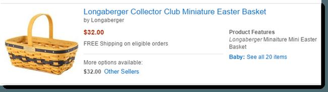 Longaberger on Amazon