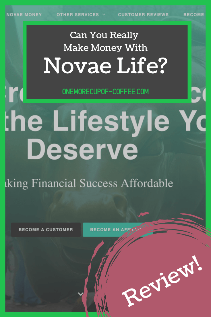 "novae life home page screenshot with logo and title, ""can you really make money with novae life?"""