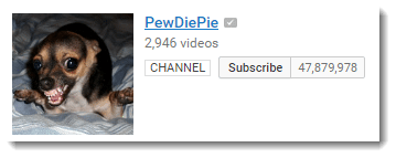 PewDiePie on YouTube