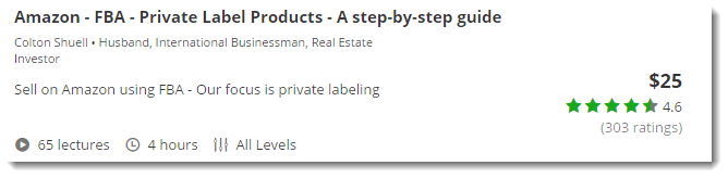 Amazon FBA Private Label Products