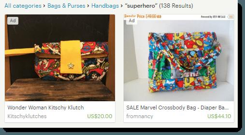 Superhero Bags On Etsy