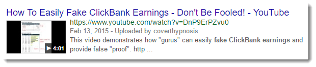 Fake Clickbank Earnings