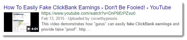 Fake Clickbank Earnings