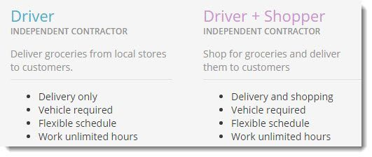 Driver and Shopper