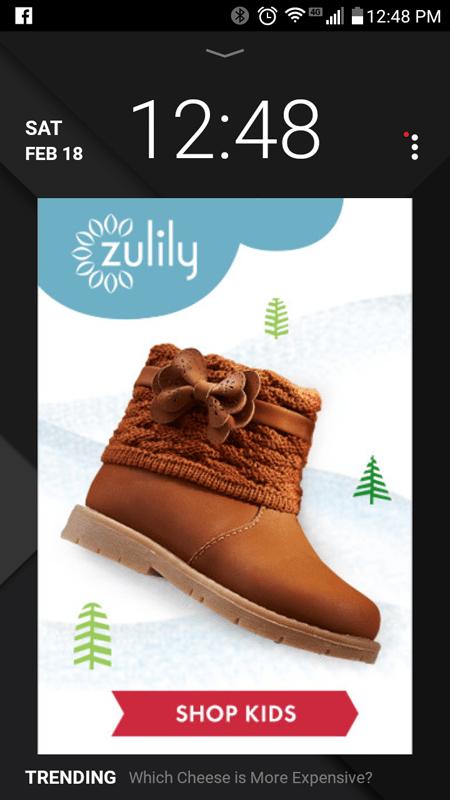 Example of a Slidejoy Advertisement