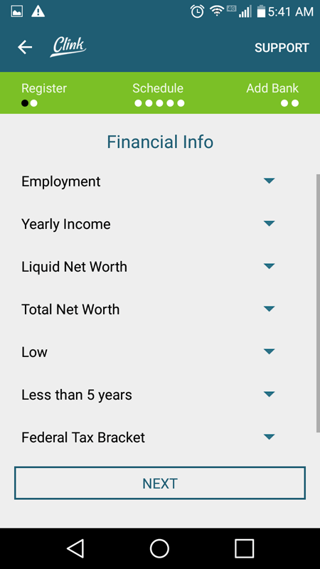 Clink FInancial Info