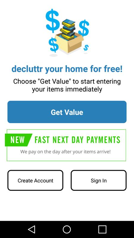 Decluttr Create Account