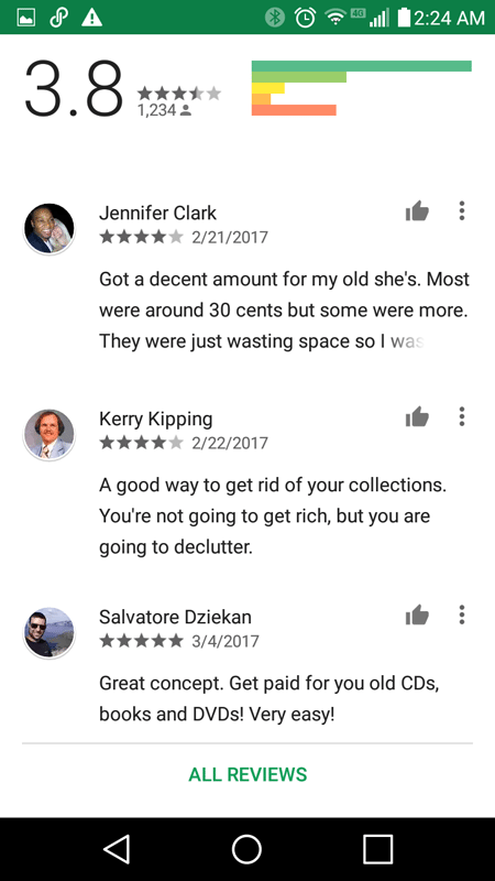 Decluttr Google Play Store Rating