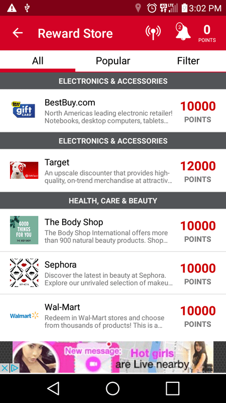 GrabPoints Gift Card And Reward Options