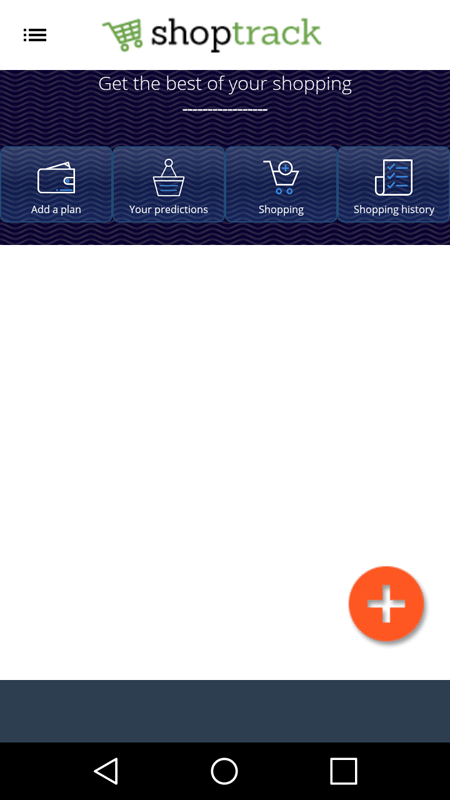 The Shopping Tracker App Interface