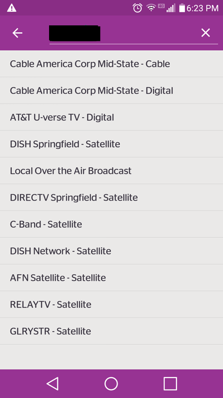 Viggle Cable TV List
