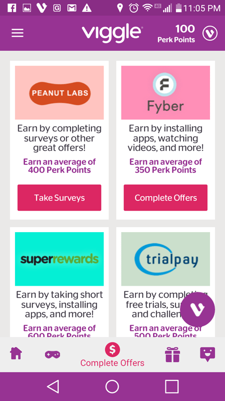 Viggle Complete Offers