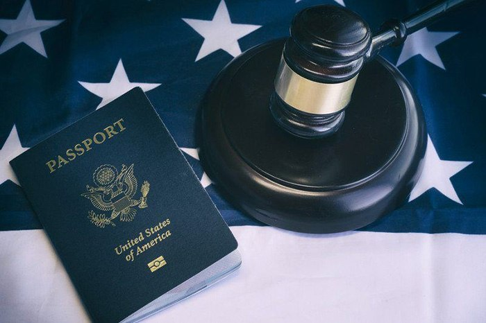 Picture of a U.S. passport as an example of jobs for Americans in Europe