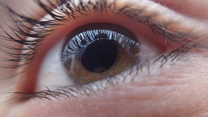Closeup of the human eye as an example of jobs for blind people