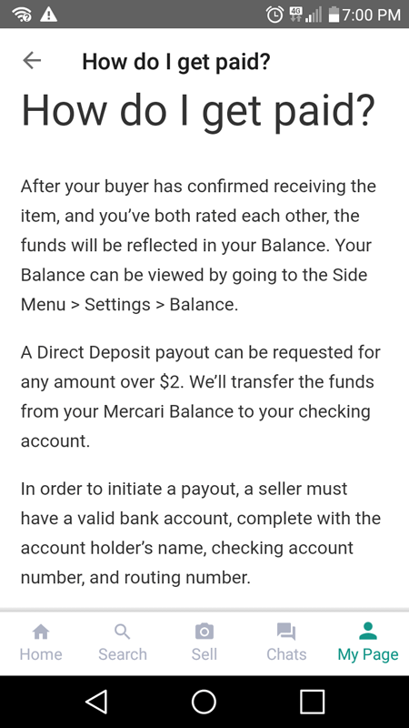 How You Get Paid On Mercari