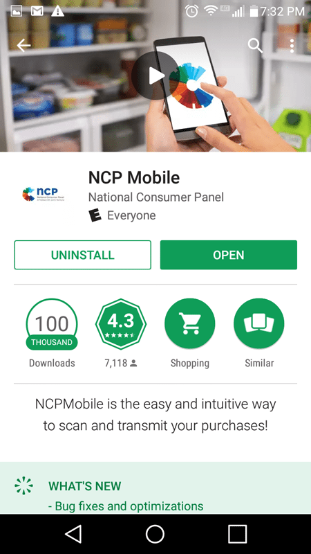 NCP Mobile App Basic Information