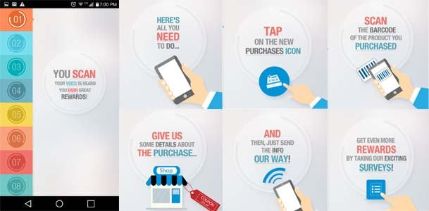 NCP Mobile App Start Screens