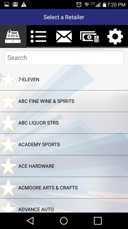 Selecting A Store In The NCP Mobile App