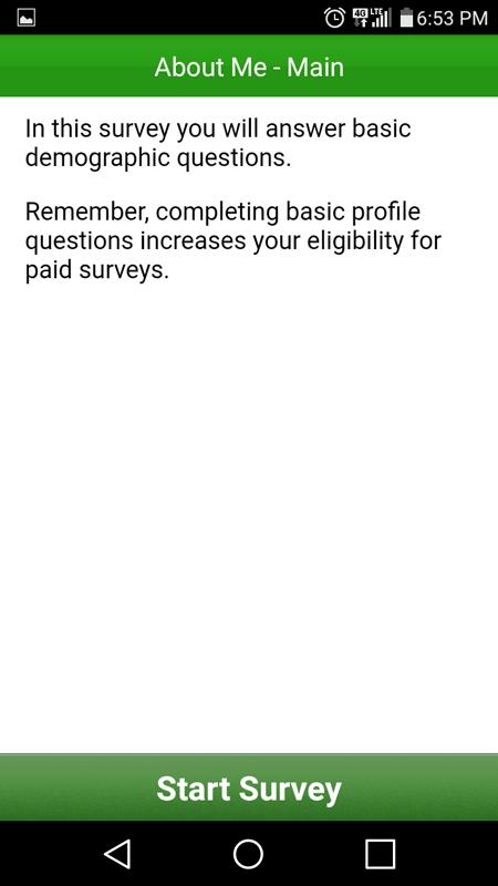 The About Me Survey