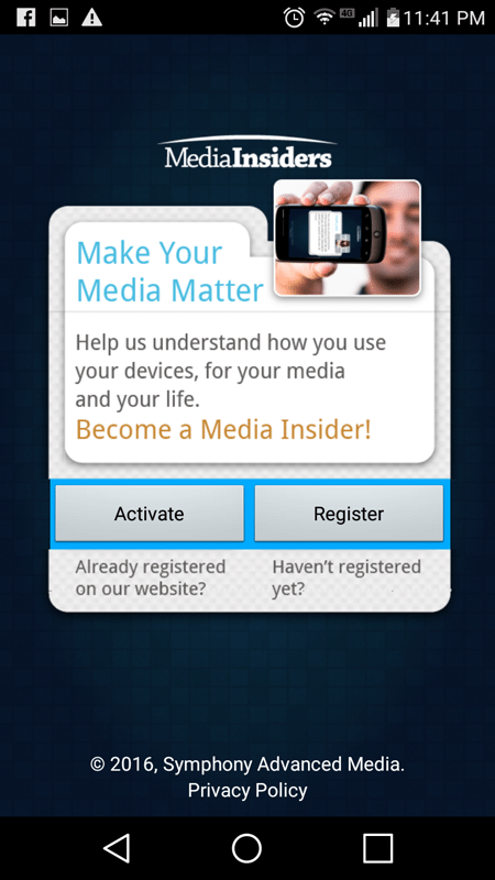 Time To Register With The TV Viewing Research And Rewards App