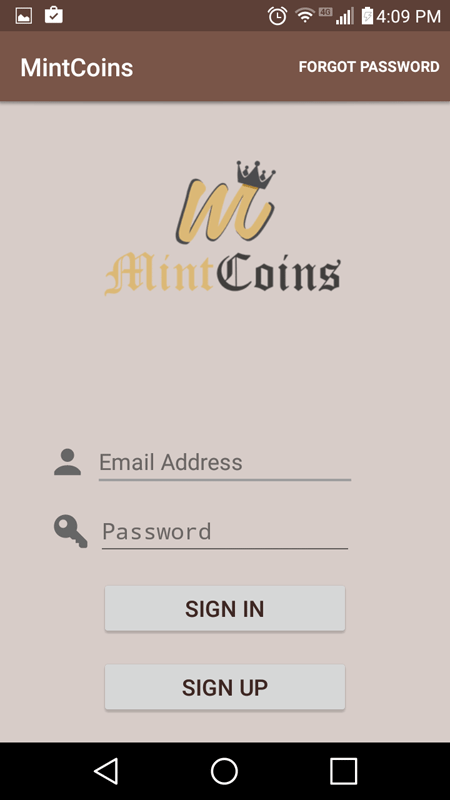 MintCoins Sign Up