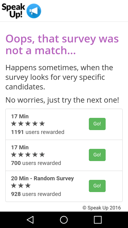 The Survey Was Not A Match