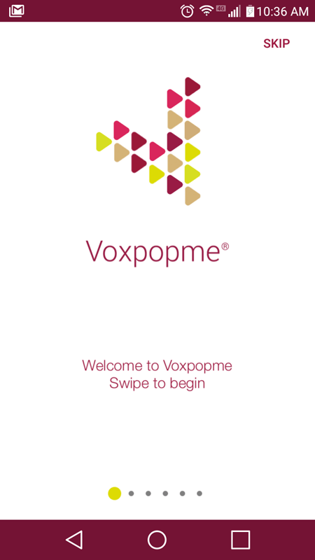 Voxpopme Intro Screen
