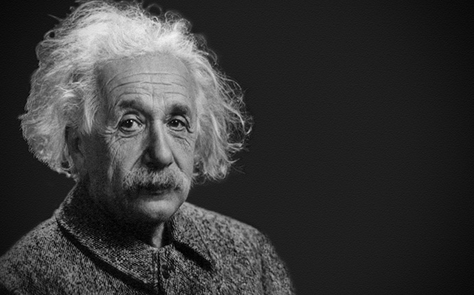 Portrait of Albert Einstein as an example of jobs for the INTP personality type