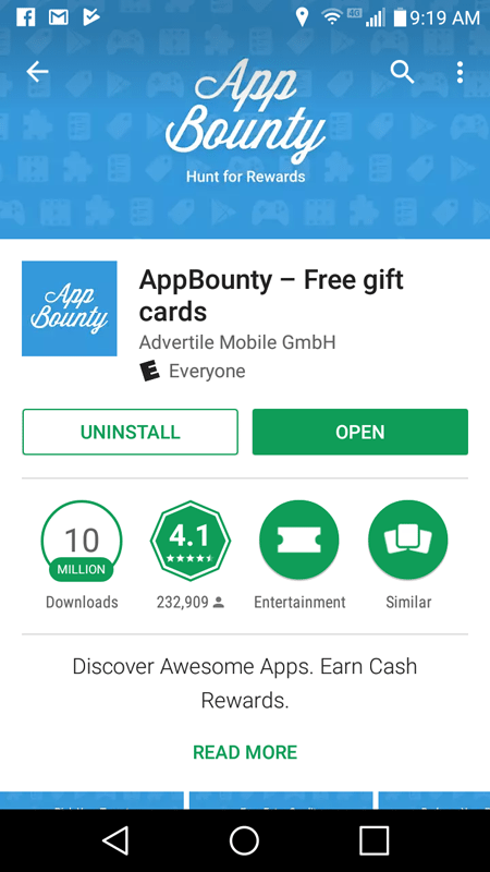 App Bountry Basic Stats
