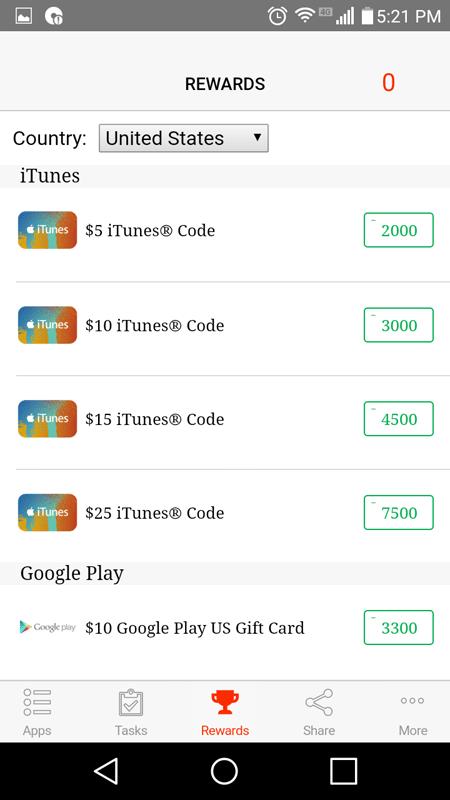 Cash For Apps Rewards