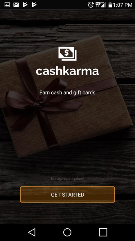 CashKarma Intro Screen