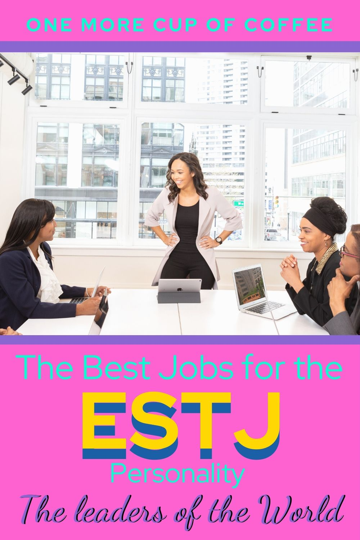 Businesswoman leading a meeting illustrating ESTJ personality jobs!