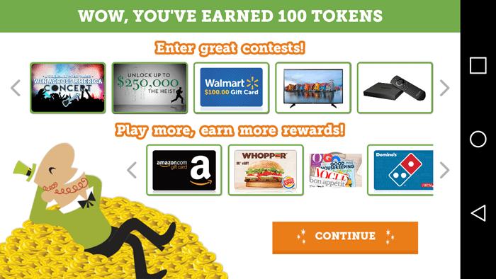 I Earned 100 Tokens
