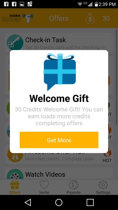 I Earned A Welcome Gift