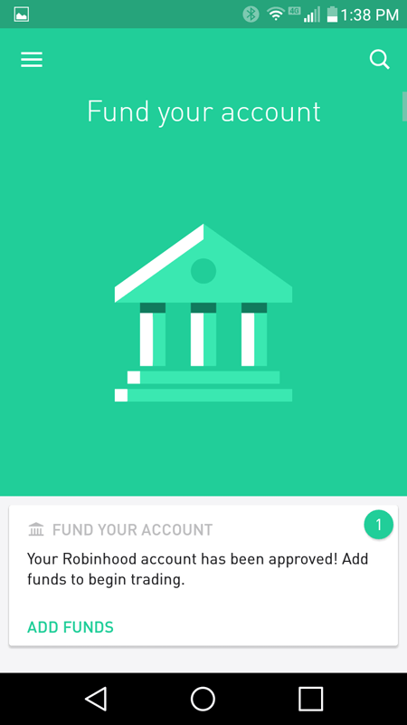 It Was Time To Fund My Robinhood Account